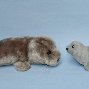 Grey seal soft toy and keyring