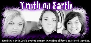 Serena, Kiley and Tess from Social Action Rock Band, Truth On Earth support the Seal Protection Action Group