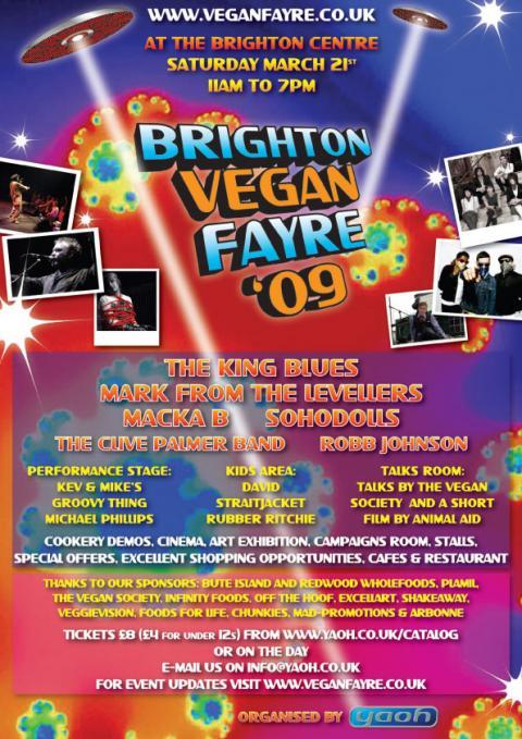 Brighton Vegan Fayre Poster