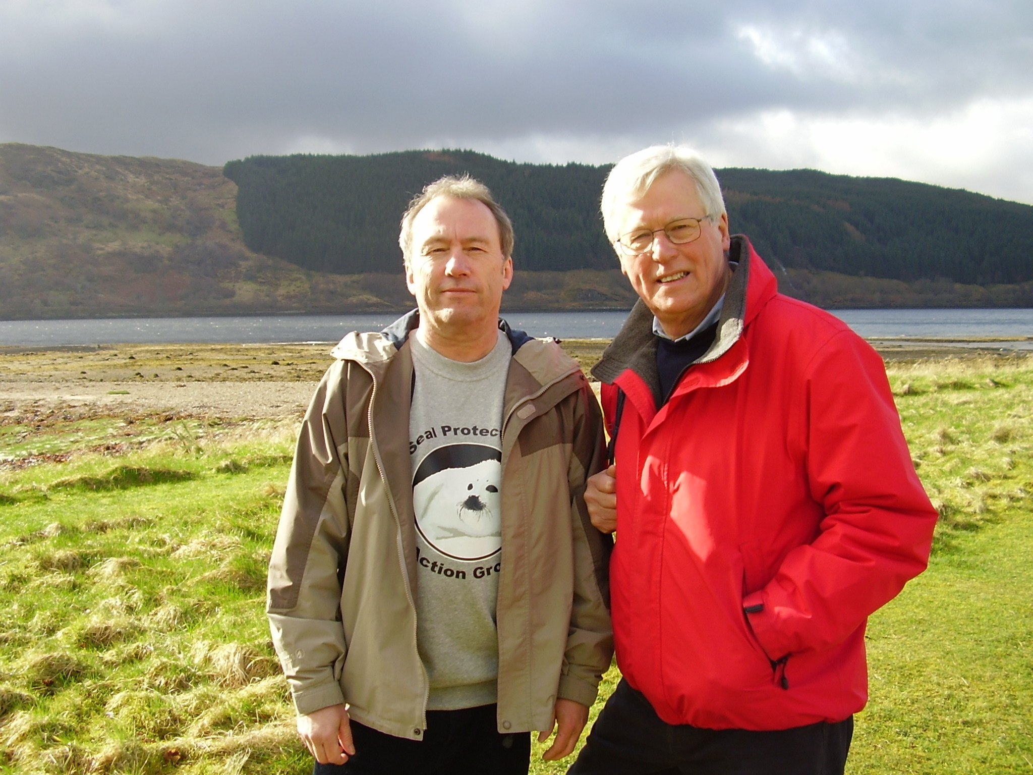 SPAG's Andy Ottaway with BBC Countryfile presenter John Craven